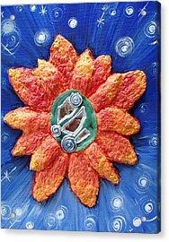 Fragrant Planet Acrylic Print by Catt Kyriacou