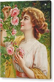 Fragrant Roses Acrylic Print by Emile Vernon