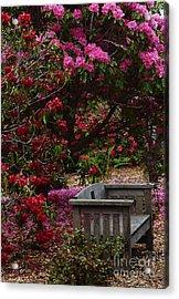 Fragrant Throne Acrylic Print by JoAnn SkyWatcher