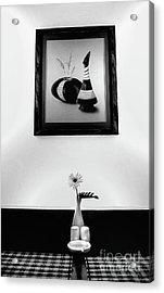 Frame And Flower Acrylic Print by Charuhas Images