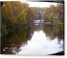 Framed Autumn River Acrylic Print