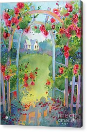 Framed By The Roses Acrylic Print