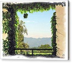 Acrylic Print featuring the photograph Framing Napa Valley by Joan  Minchak