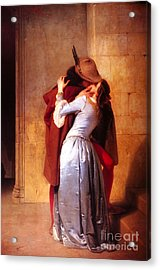 Francesco Hayez Il Bacio Or The Kiss Acrylic Print by Pg Reproductions