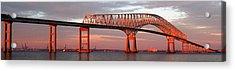 Francis Scott Key Bridge At Sunset Baltimore Maryland Acrylic Print by Wayne Higgs