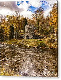 Acrylic Print featuring the photograph Franconia Fall by Anthony Baatz