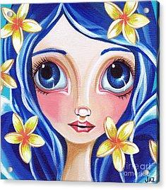 Frangipani Fairy Acrylic Print by Jaz Higgins