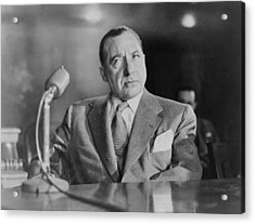 Frank Costello 1891-1973, Testifying Acrylic Print by Everett