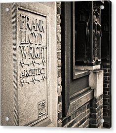 Frank Lloyd Wright's Studio Acrylic Print by Niels Nielsen