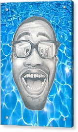 Frank Ocean Acrylic Print by Mercedes Carter-Gomes