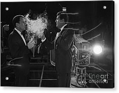 Frank Sinatra And Dean Martin On A Tv Set Acrylic Print
