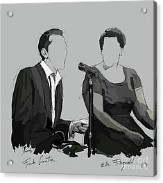 Frank Sinatra And Ella Fitzerald, Good Old Fashion Jazz, Singers Acrylic Print