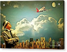 Frank Sinatra Fly Me To The Moon 20170506 Acrylic Print by Wingsdomain Art and Photography