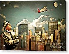 Frank Sinatra Fly Me To The Moon New York 20170506 V3 Acrylic Print by Wingsdomain Art and Photography