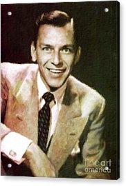 Frank Sinatra, Hollywood Legend By Mary Bassett Acrylic Print