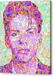 Frank Sinatra In Abstract Cubism 20170404 Vertical Acrylic Print