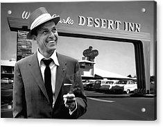 Frank Sinatra In Las Vegas Acrylic Print