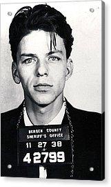 Frank Sinatra Mug Shot Vertical Acrylic Print