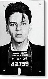 Frank Sinatra Mugshot Acrylic Print