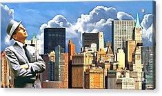 Frank Sinatra New York New York 20170507 Acrylic Print by Wingsdomain Art and Photography