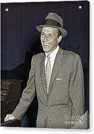 Frank Sinatra On Set Acrylic Print by Martin Konopacki Restoration