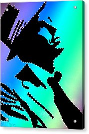 Frank Sinatra Over The Rainbow Acrylic Print