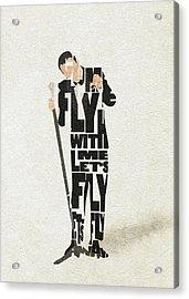 Frank Sinatra Typography Art Acrylic Print