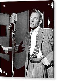 Frank Sinatra William Gottlieb Photo Liederkranz Hall New York City 1947-2015 Acrylic Print by David Lee Guss