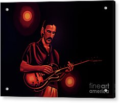 Frank Zappa Painting Acrylic Print by Paul Meijering