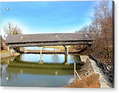 Frankenmuth Covered Bridge Acrylic Print by Design Turnpike