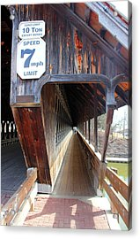 Frankenmuth Covered Bridge Tunnel Walkway View Acrylic Print by Design Turnpike
