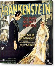 Frankenstein, Boris Karloff, Mae Clarke Acrylic Print by Everett