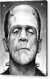 Frankenstein Acrylic Print by Greg Joens
