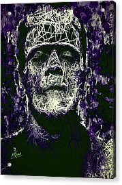 Acrylic Print featuring the mixed media Frankenstein by Al Matra