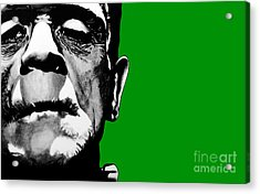 Frankenstein's Monster Signed Prints Available At Laartwork.com Coupon Code Kodak Acrylic Print by Leon Jimenez