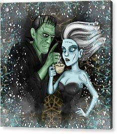 Frankenstien Fantasy Art Acrylic Print