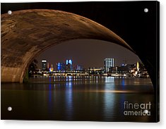 Frankfurt By Night Acrylic Print
