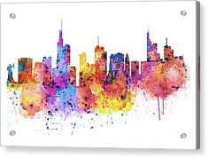 Frankfurt Skyline Acrylic Print