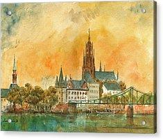 Frankfurt Watercolor Acrylic Print