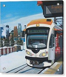 Franklin Avenue Station Acrylic Print by Jude Labuszewski