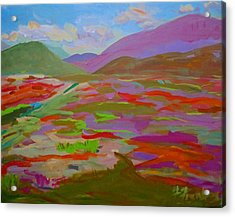 Acrylic Print featuring the painting Franklin Blueberry Fields by Francine Frank