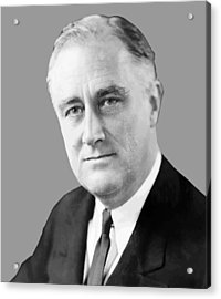 Franklin Delano Roosevelt Acrylic Print by War Is Hell Store
