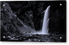 Franklin Falls Black And White Acrylic Print