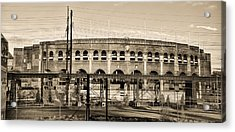 Franklin Field In Sepia Acrylic Print by Bill Cannon