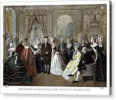 Franklin's Reception At The Court Of France Acrylic Print by War Is Hell Store