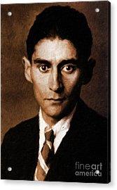 Franz Kafka, Literary Legend By Mary Bassett Acrylic Print