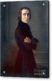 Franz Liszt (1811-1886) Acrylic Print by Granger
