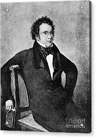 Franz Peter Schubert, Austrian Composer Acrylic Print by Omikron