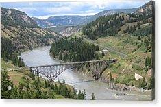 Fraser River Bridge Near Williams Lake Acrylic Print