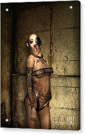 Freaks - The Second Girl In The Basment Acrylic Print by Luca Oleastri